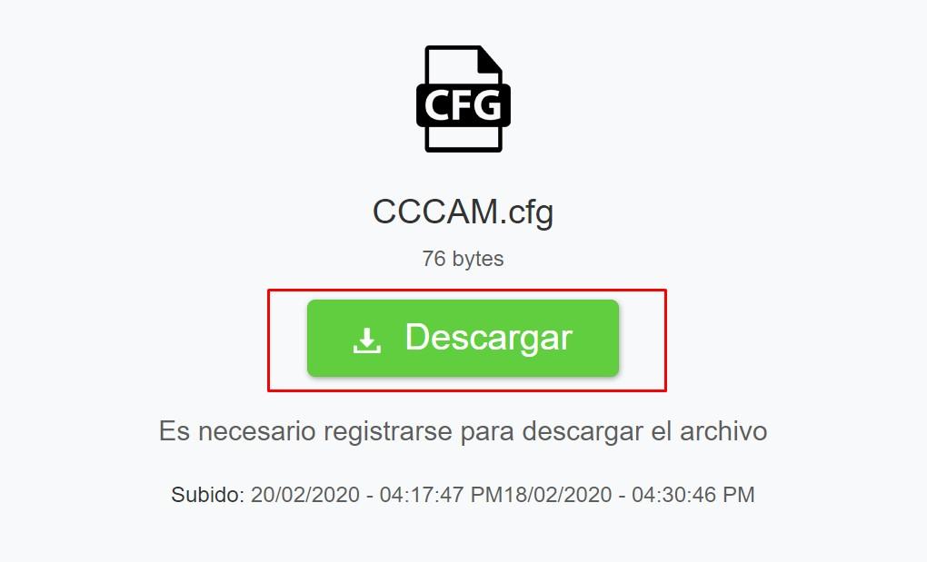 descargar fichero cccam
